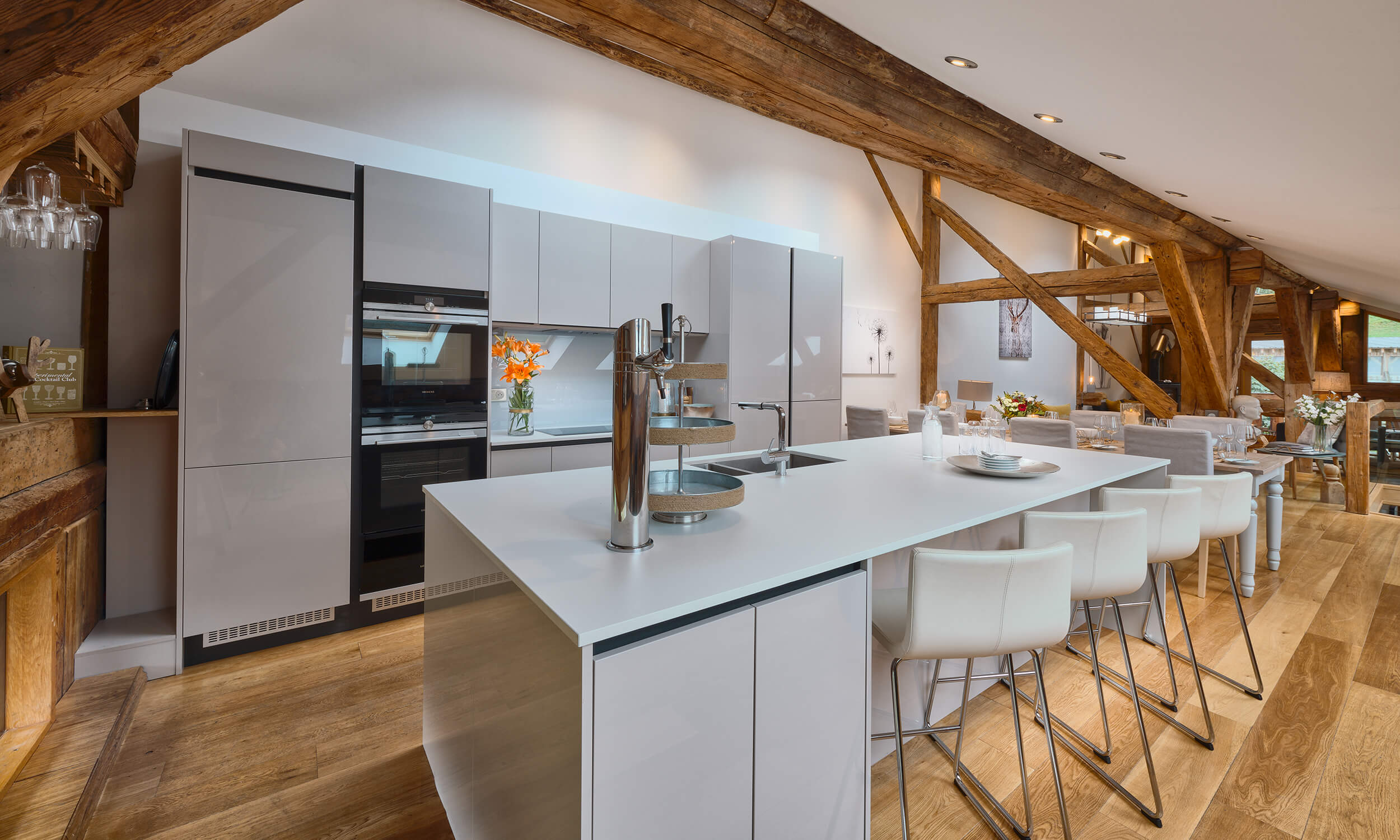 The kitchen at Chalet 46 - summer in Morzine