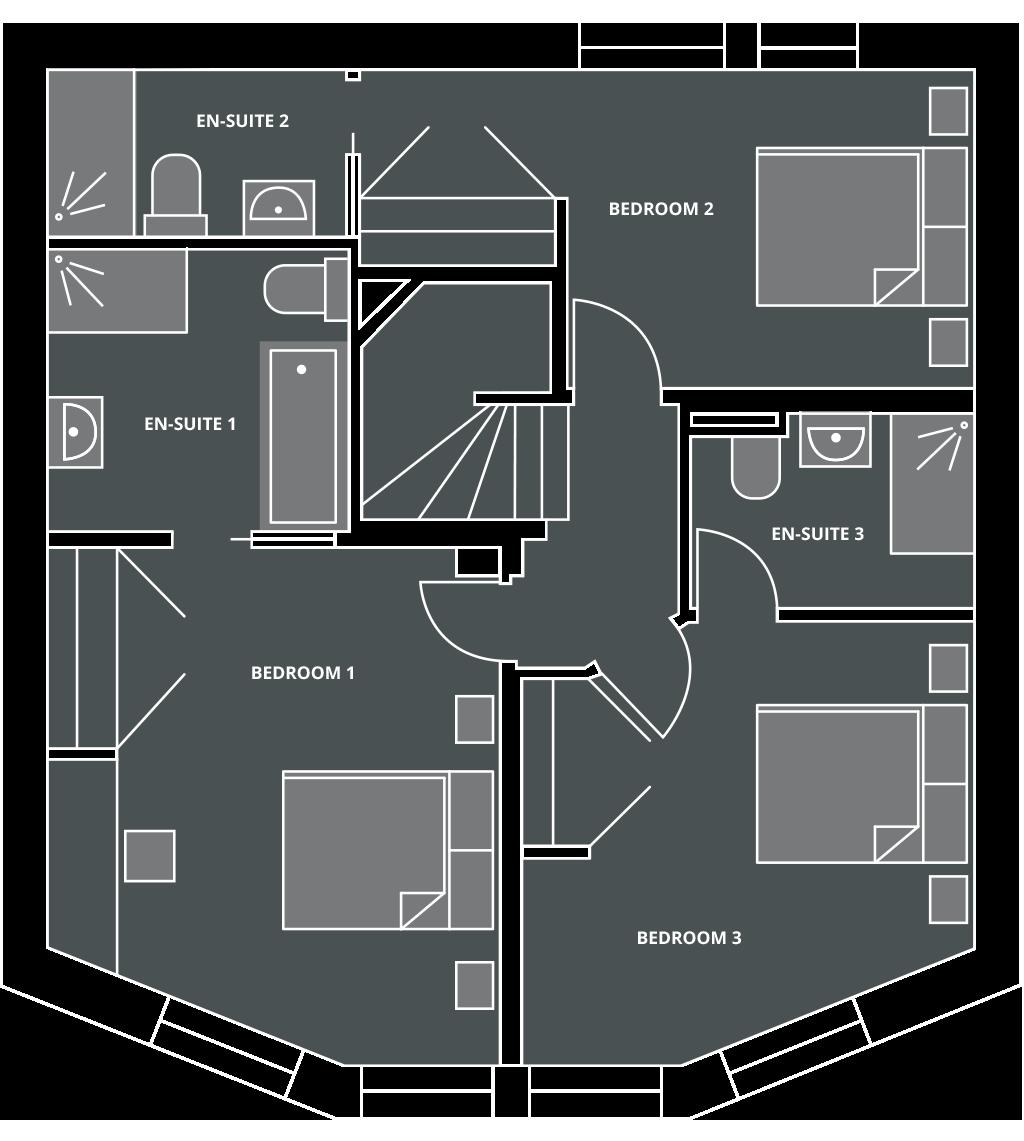 Chalet Blanc Floor Plan