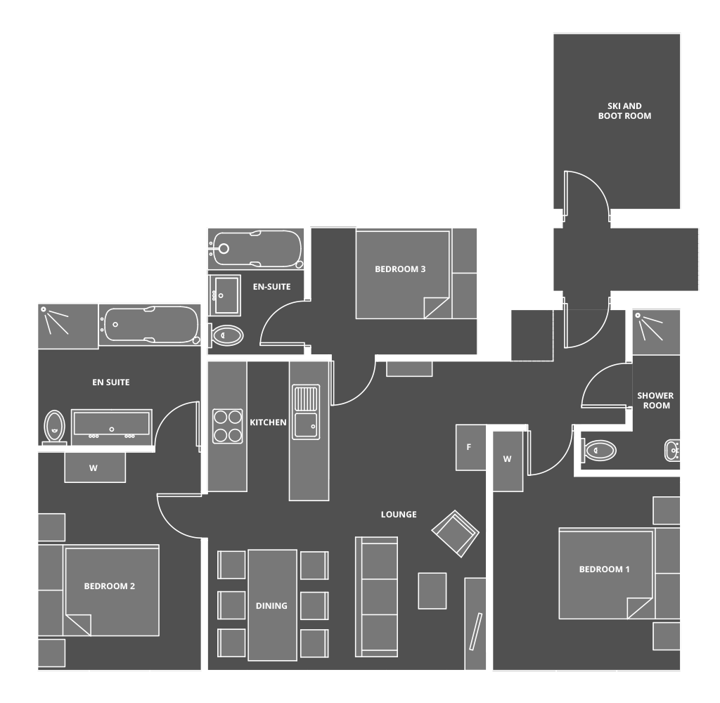 Apartment 6˚ Floor Plan