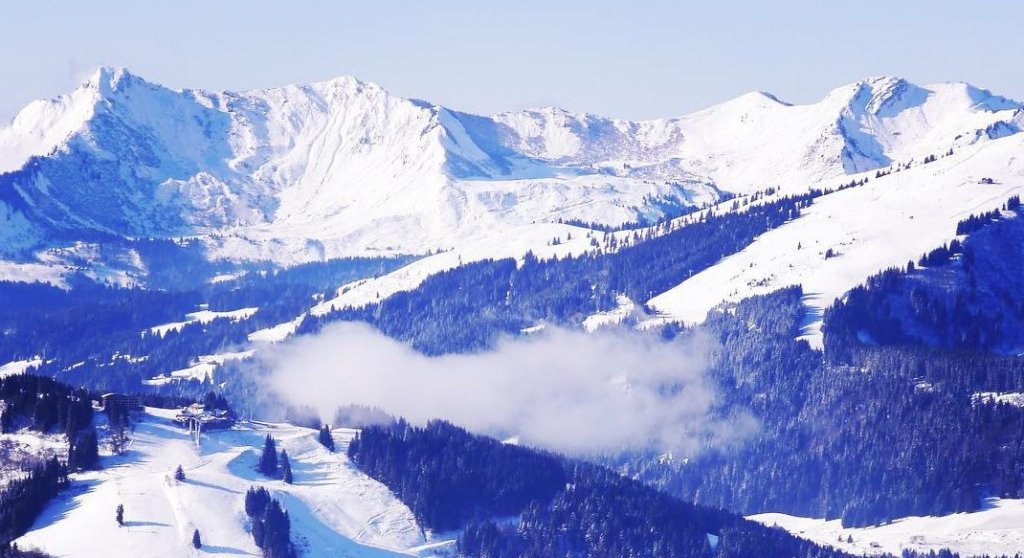 Mountains Morzine in winter