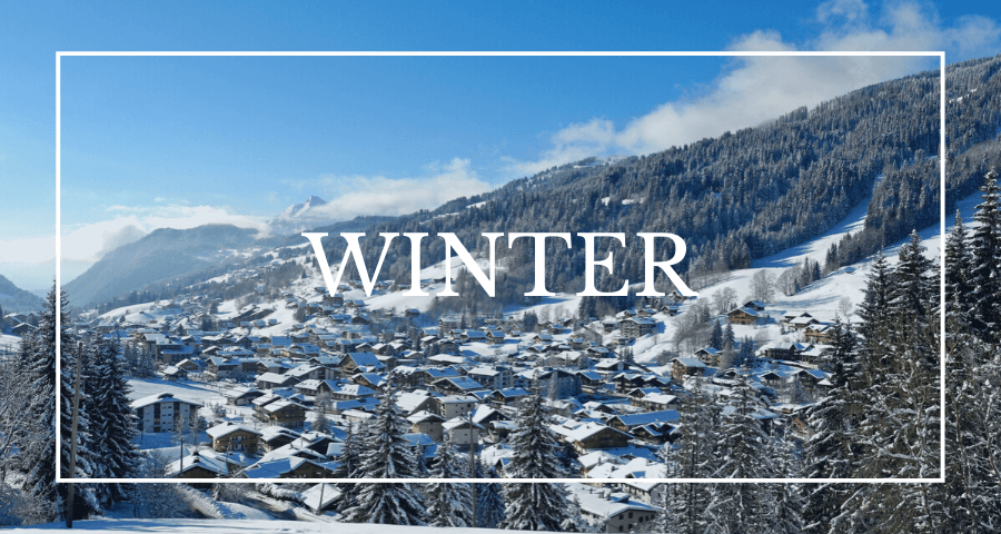 Luxury chalets in Les Gets - winter
