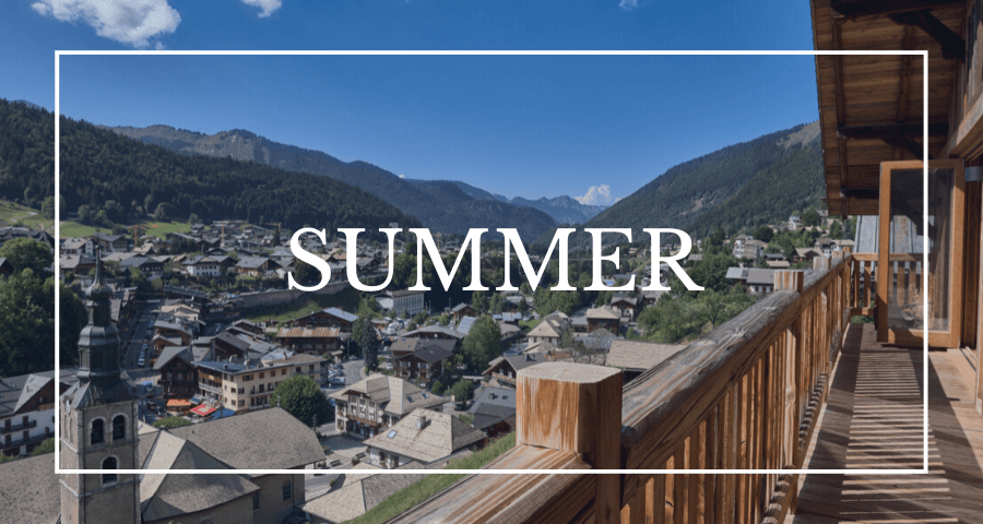 Luxury chalets in Morzine - summer