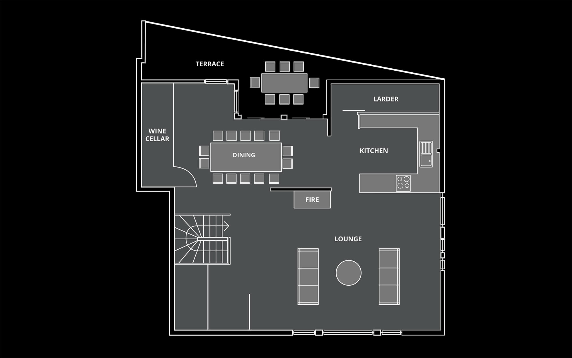 Le Coin Perdu Floor Plan