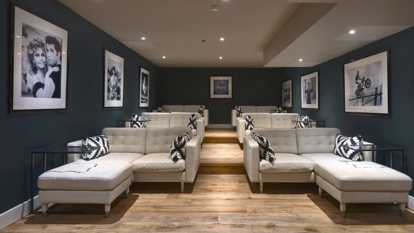 Luxury ski holiday private cinema