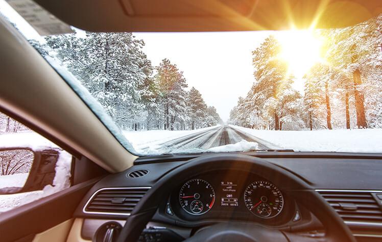 Driving to Morzine