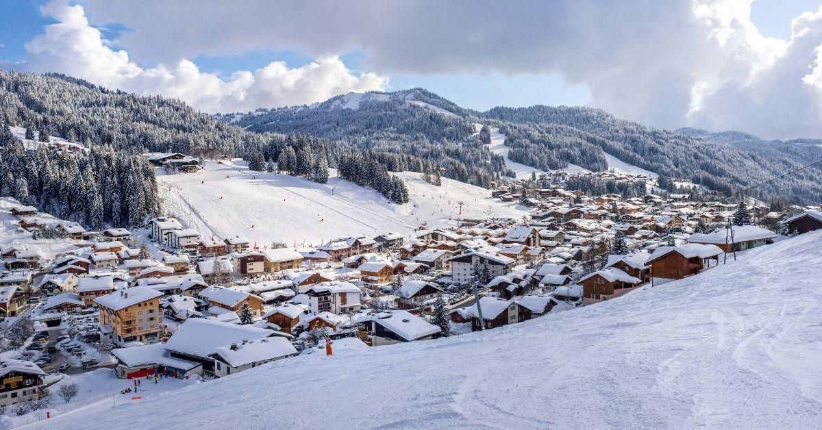 Ski in France, resort of Les Gets