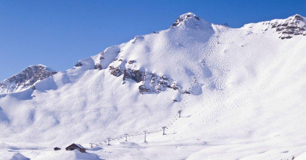 High altitude ski run near Morzine