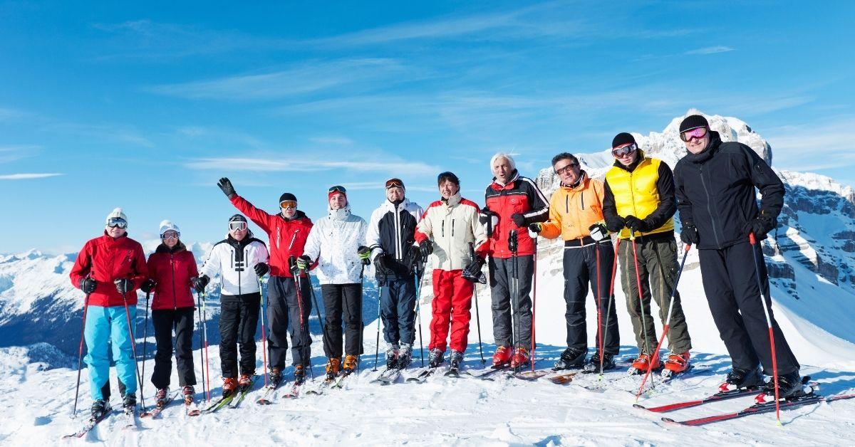 Corporate ski trip
