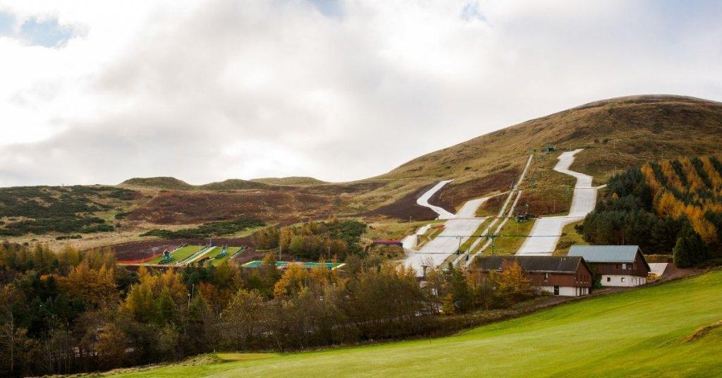 Ski exercises - dry ski slope