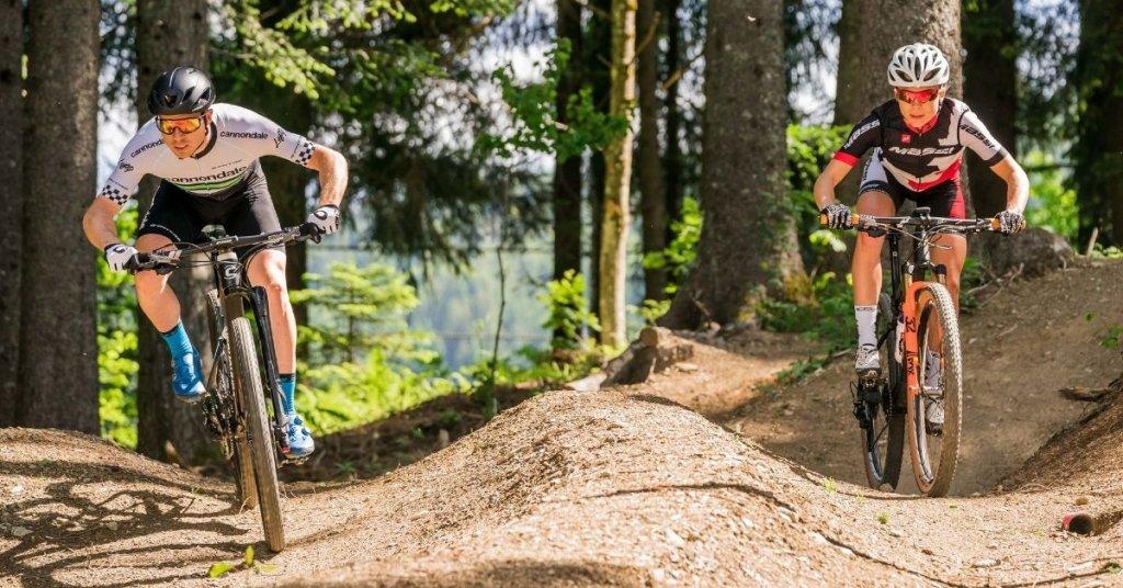 Enduro biking at Les Gets Bike Park