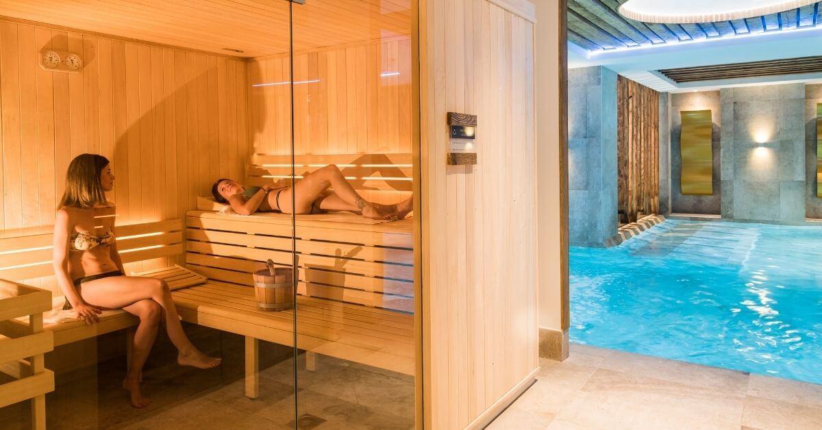 Sauna spar at Les Sources Du Chery