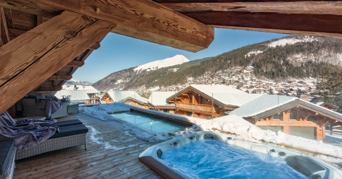 Holidays with a private pool - Lodge des Nants - outdoor balcony