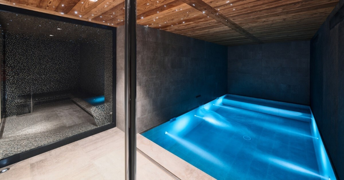 Holidays with a private pool - Lodge des Nants - indoor