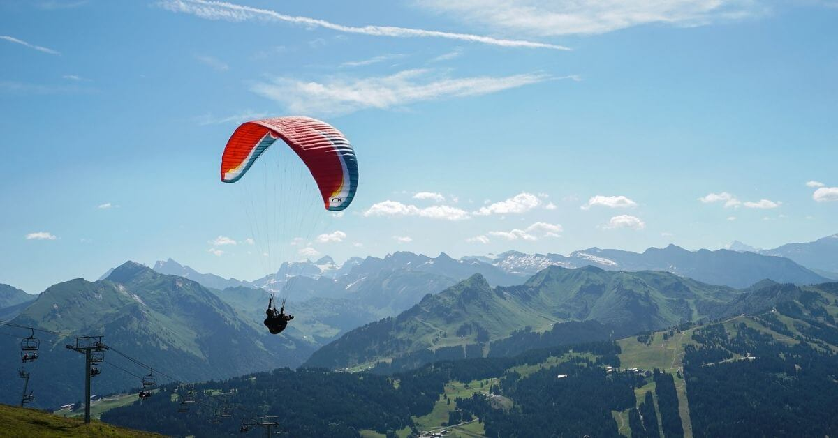 Paragliding - Les Gets in Summer