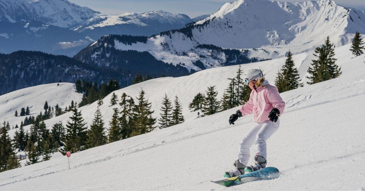 Snowboarding in Avoriaz